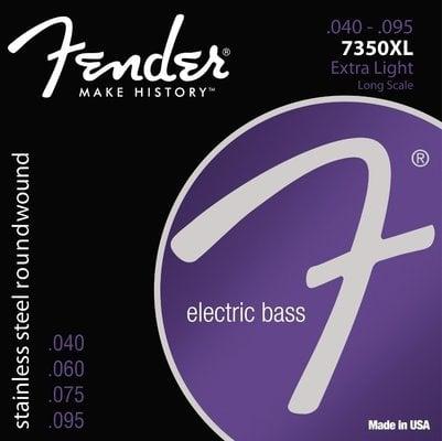 Fender 7350XL Extra Light Stainless Steel Bass String Set