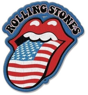 The Rolling Stones Standard Patch US Tongue with Iron On Finish