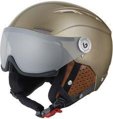 Bollé Backline Visor Premium Ski Helmet Shiny Gold/Cognac