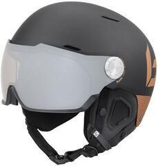 Bollé Might Visor Premium Ski Helmet Matte Black/Blush Gold
