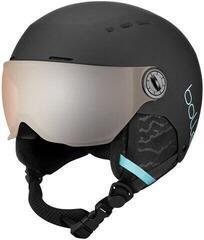 Bollé Quiz Visor Ski Helmet Matte Black/Blue