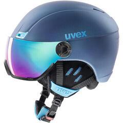 UVEX Hlmt 400 Visor Style Ski Helmet Navy Blue Mat 58-61 cm 19/20