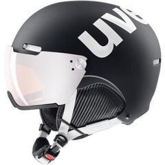 UVEX Hlmt 500 Visor Ski Helmet Black/White Mat 52-55 cm 19/20