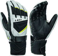 Leki Griffin S Mens Ski Gloves White/Black/Lime 9