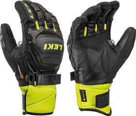 Leki Worldcup Race Coach Flex S Gore-Tex Mens Ski Gloves Black/Ice Lemon 10,5