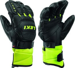 Leki Worldcup Race S Junior Ski Gloves Black/Ice Lemon 8