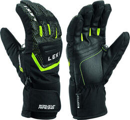 Leki Worldcup S Junior Ski Gloves Black/Ice Lemon 8