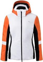Kjus Formula Womens Ski Jacket White/Kjus Orange