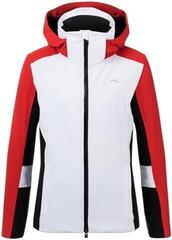 Kjus Laina Womens Ski Jacket White/Fiery Red
