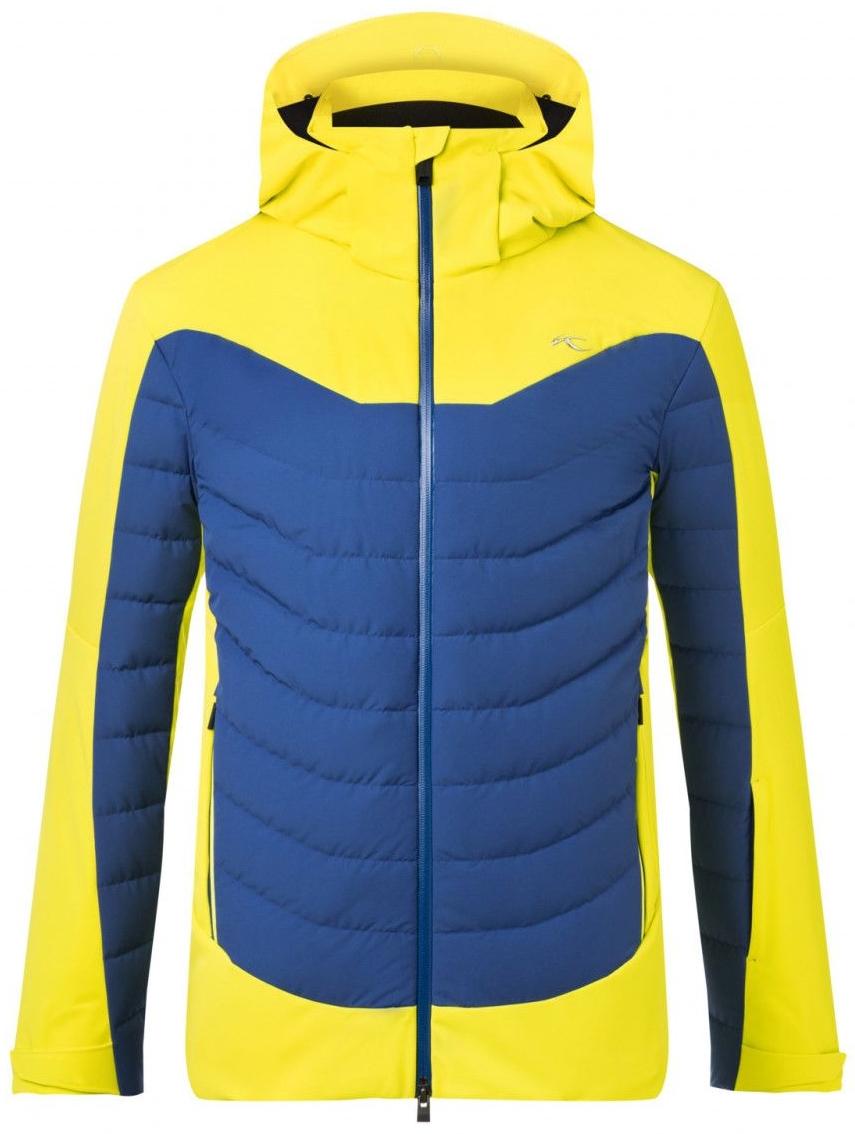 Kjus Sight Line Mens Ski Jacket Citric YellowSouthern Blue 54