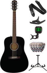 Fender CD-60S Dreadnought WN Black Deluxe SET