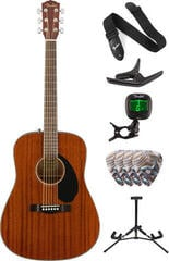Fender CD-60S Dreadnought WN All-Mahogany Deluxe SET