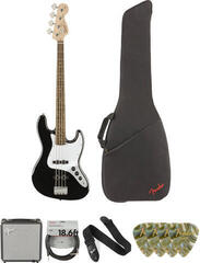 Fender Squier Affinity Series Jazz Bass IL Deluxe SET Noir