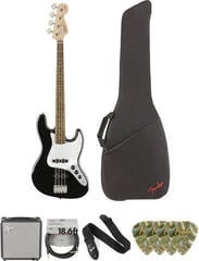 Fender Squier Affinity Series Jazz Bass LR Black Deluxe SET