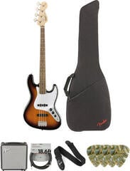 Fender Squier Affinity Series Jazz Bass LR Brown Sunburst Deluxe SET