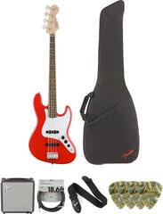 Fender Squier Affinity Series Jazz Bass LR Race Red Deluxe SET