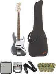 Fender Squier Affinity Series Jazz Bass LR Slick Silver Deluxe SET