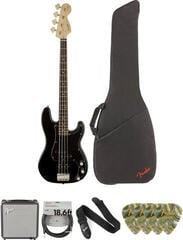 Fender Squier Affinity Series Precision Bass PJ IL Black Deluxe SET