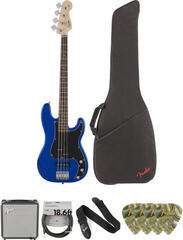 Fender Squier Affinity Series Precision Bass PJ IL Imperial Blue Deluxe SET