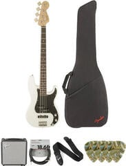 Fender Squier Affinity Series Precision Bass PJ IL Olympic White Deluxe SET