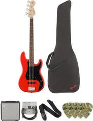 Fender Squier Affinity Series Precision Bass PJ IL Race Red Deluxe SET