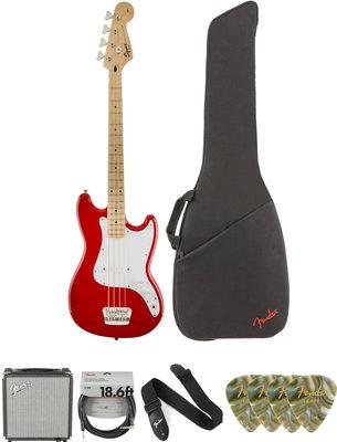 Fender Squier Bronco Bass MN Torino Red Deluxe SET