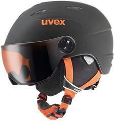 UVEX Junior Vision Pro Ski Helmet Black/Orange Matt