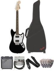 Fender Squier Bullet Mustang HH IL Black Deluxe SET