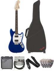 Fender Squier Bullet Mustang HH IL Imperial Blue Deluxe SET