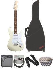 Fender Squier Bullet Stratocaster Tremolo HSS IL Arctic White Deluxe SET