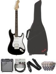 Fender Squier Bullet Stratocaster Tremolo HSS IL Black Deluxe SET