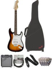 Fender Squier Bullet Stratocaster Tremolo HSS IL Brown Sunburst Deluxe SET