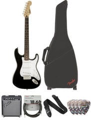 Fender Squier Bullet Stratocaster Tremolo IL Deluxe SET Fekete