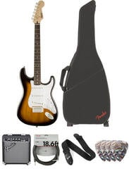 Fender Squier Bullet Stratocaster Tremolo IL Deluxe SET Brown Sunburst
