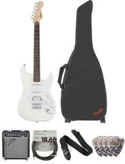Fender Squier Bullet Stratocaster HSS HT IL Arctic White Deluxe SET