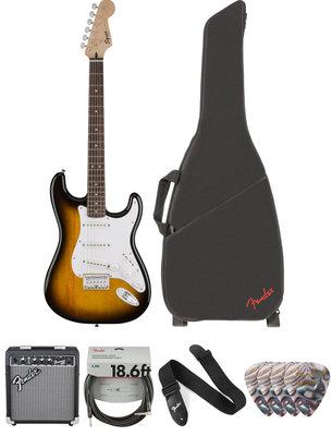 Fender Squier Bullet Stratocaster HT IL Brown Sunburst Deluxe SET