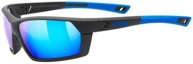 UVEX Sportstyle 225 Black Blue Mat