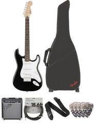 Fender Squier Bullet Stratocaster HT IL Black Deluxe SET