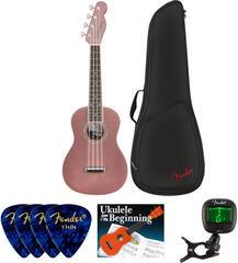 Fender Zuma Classic Concert Ukulele WN Burgundy Mist SET