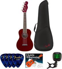 Fender Zuma Classic Concert Ukulele WN Candy Apple Red SET