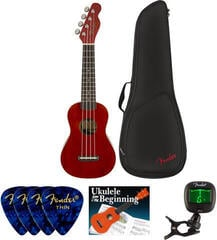 Fender Venice Soprano Ukulele WN Cherry SET