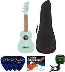 Fender Venice Soprano Ukulele WN Daphne Blue SET