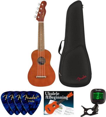 Fender Venice Soprano Ukulele WN Natural SET