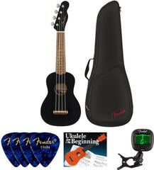 Fender Venice Soprano Ukulele WN Black SET