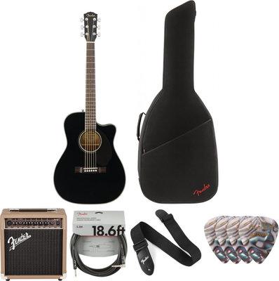 Fender CC-60SCE Concert WN Black Deluxe SET