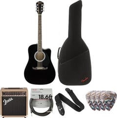 Fender FA-125CE Concert WN Black Deluxe SET