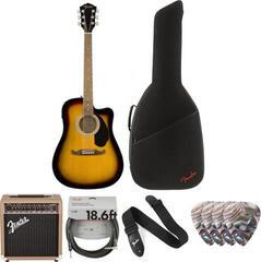 Fender FA-125CE Concert Sunburst WN Deluxe SET
