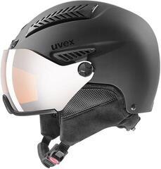 UVEX Hlmt 600 Visor Ski Helmet Black Mat