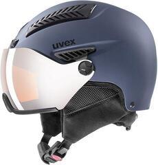 UVEX Hlmt 600 Visor Ski Helmet Blue Mat 55-57 cm 19/20