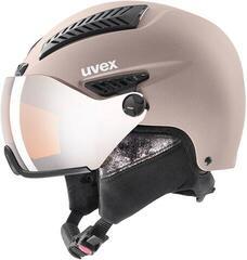 UVEX Hlmt 600 Visor Ski Helmet Rose Mat
